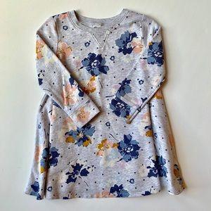 Old Navy toddler girl floral sweatshirt dress